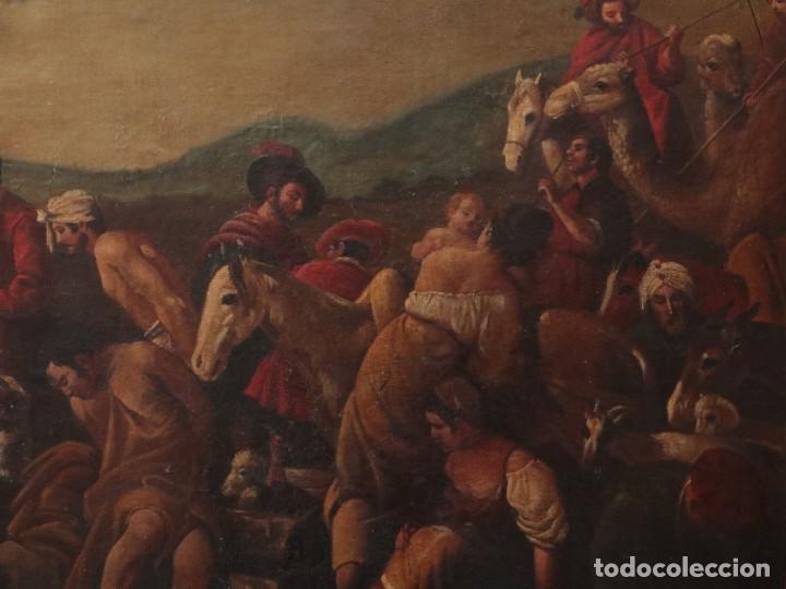Arte: El mercado de la esclavitud. Escuela flamneca. Siglo XVII. Óleo/Lienzo. Med: 154 x 99 cm. - Foto 6 - 193284005