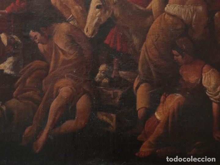 Arte: El mercado de la esclavitud. Escuela flamneca. Siglo XVII. Óleo/Lienzo. Med: 154 x 99 cm. - Foto 8 - 193284005
