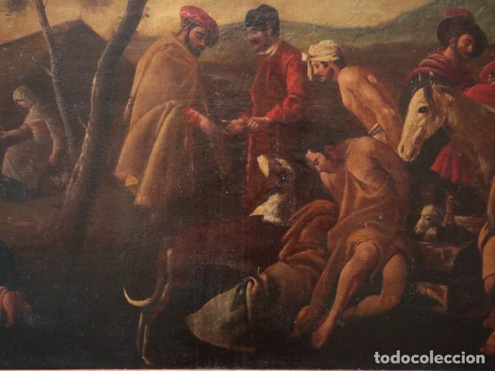 Arte: El mercado de la esclavitud. Escuela flamneca. Siglo XVII. Óleo/Lienzo. Med: 154 x 99 cm. - Foto 10 - 193284005