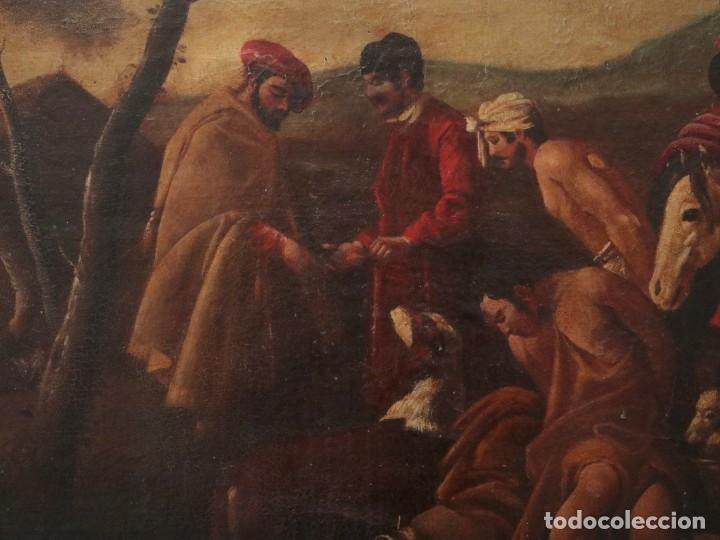 Arte: El mercado de la esclavitud. Escuela flamneca. Siglo XVII. Óleo/Lienzo. Med: 154 x 99 cm. - Foto 11 - 193284005