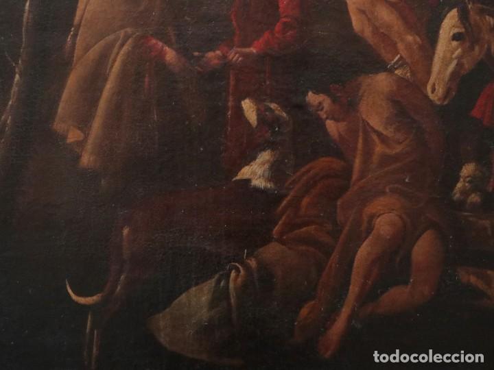 Arte: El mercado de la esclavitud. Escuela flamneca. Siglo XVII. Óleo/Lienzo. Med: 154 x 99 cm. - Foto 12 - 193284005