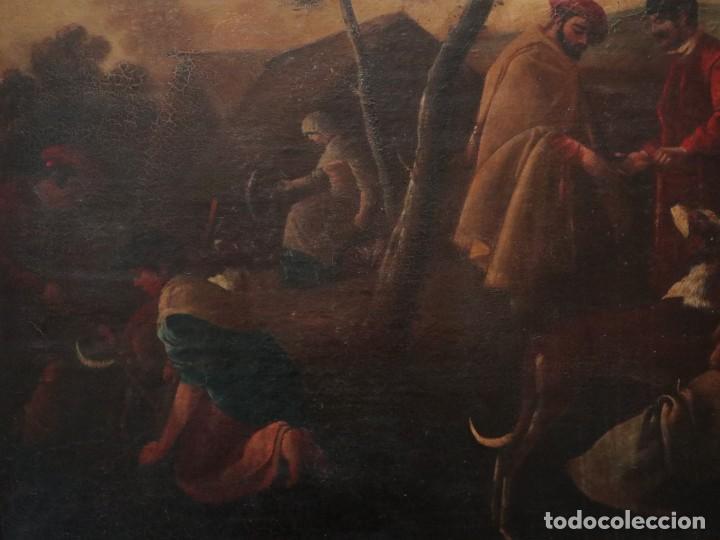 Arte: El mercado de la esclavitud. Escuela flamneca. Siglo XVII. Óleo/Lienzo. Med: 154 x 99 cm. - Foto 13 - 193284005