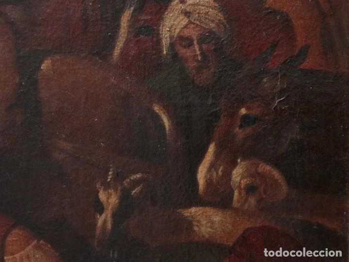 Arte: El mercado de la esclavitud. Escuela flamneca. Siglo XVII. Óleo/Lienzo. Med: 154 x 99 cm. - Foto 15 - 193284005