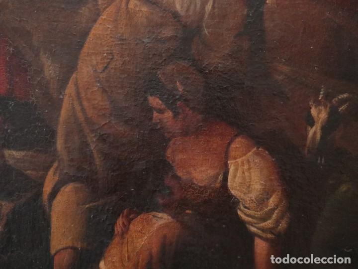 Arte: El mercado de la esclavitud. Escuela flamneca. Siglo XVII. Óleo/Lienzo. Med: 154 x 99 cm. - Foto 17 - 193284005
