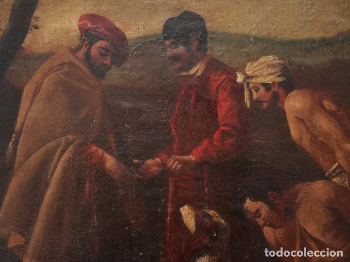 Arte: El mercado de la esclavitud. Escuela flamneca. Siglo XVII. Óleo/Lienzo. Med: 154 x 99 cm. - Foto 19 - 193284005