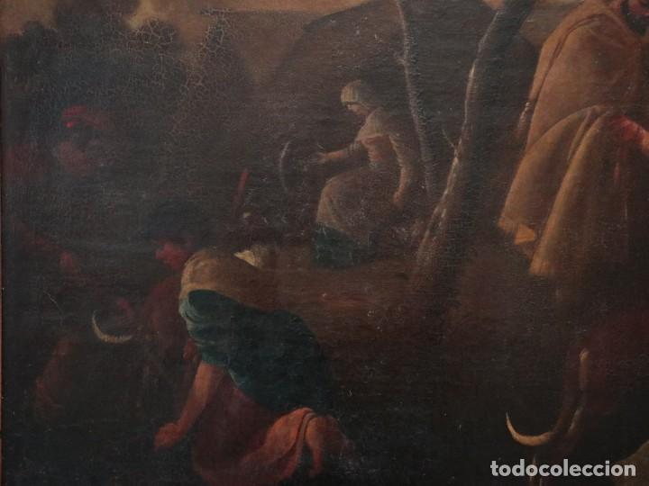 Arte: El mercado de la esclavitud. Escuela flamneca. Siglo XVII. Óleo/Lienzo. Med: 154 x 99 cm. - Foto 21 - 193284005