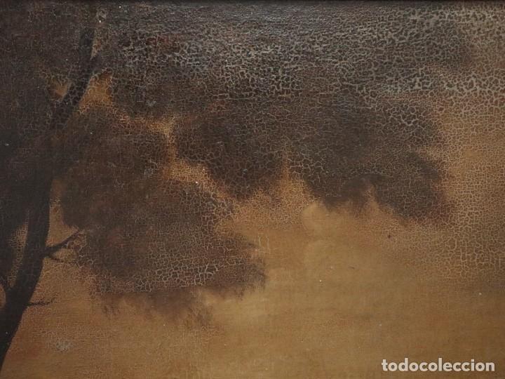 Arte: El mercado de la esclavitud. Escuela flamneca. Siglo XVII. Óleo/Lienzo. Med: 154 x 99 cm. - Foto 26 - 193284005