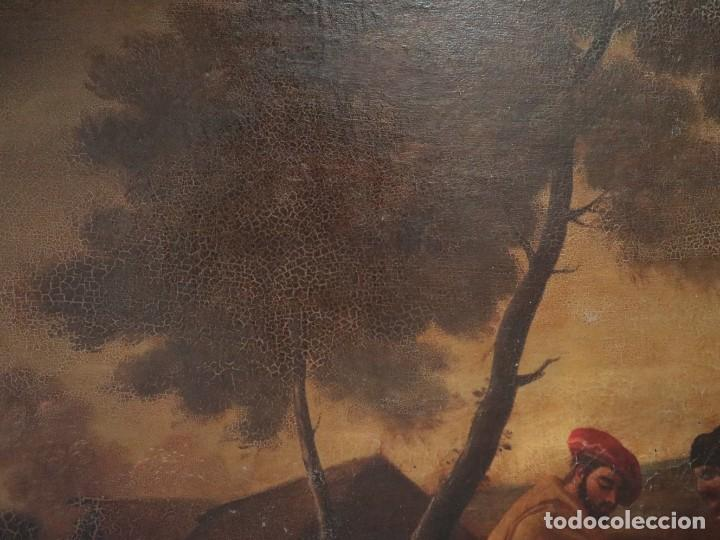 Arte: El mercado de la esclavitud. Escuela flamneca. Siglo XVII. Óleo/Lienzo. Med: 154 x 99 cm. - Foto 25 - 193284005