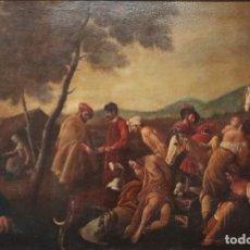 Arte: EL MERCADO DE LA ESCLAVITUD. ESCUELA FLAMNECA. SIGLO XVII. ÓLEO/LIENZO. MED: 154 X 99 CM.. Lote 193284005