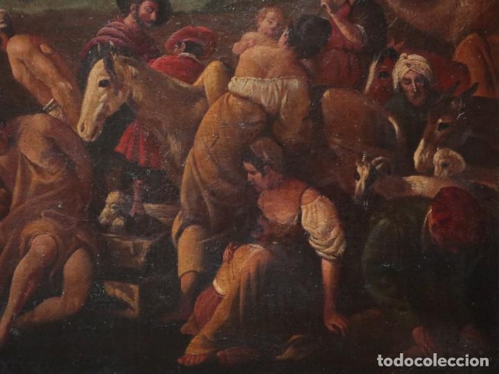 Arte: El mercado de la esclavitud. Escuela flamneca. Siglo XVII. Óleo/Lienzo. Med: 154 x 99 cm. - Foto 7 - 193284005