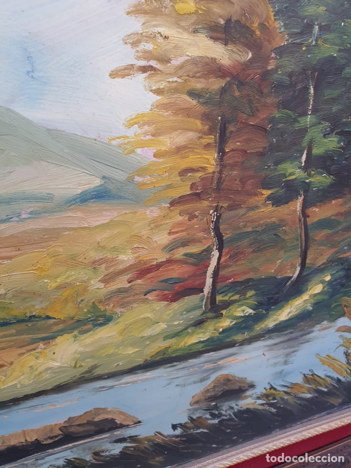 Arte: Óleo sobre lienzo, gran tamaño, necesita algo de restauración - Foto 5 - 231354530