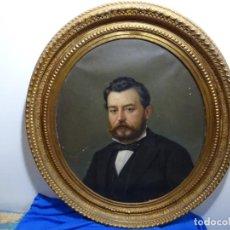 Arte: ÓLEO TELA DE JOSEP TEXIDOR I BUSQUET(BCN 1829-1892).RETRATO PADRE DEL PINTOR JOAQUIN VANCELLS 1872. Lote 231413500