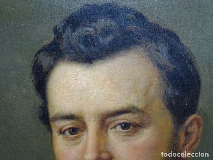 Arte: ÓLEO TELA DE JOSEP TEXIDOR I BUSQUET(BCN 1829-1892).RETRATO PADRE DEL PINTOR JOAQUIN VANCELLS 1872 - Foto 4 - 231413500