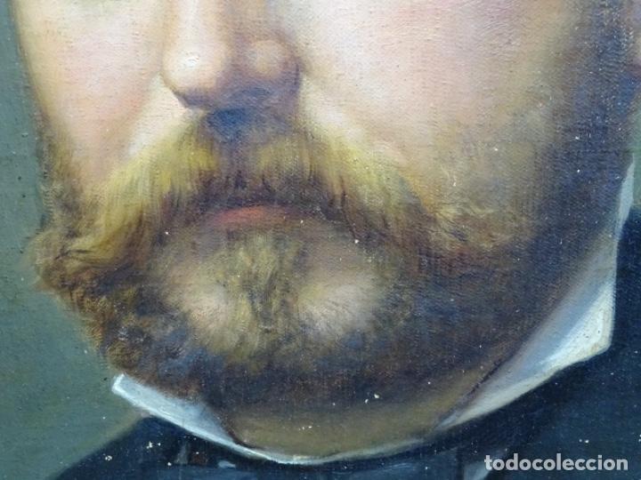 Arte: ÓLEO TELA DE JOSEP TEXIDOR I BUSQUET(BCN 1829-1892).RETRATO PADRE DEL PINTOR JOAQUIN VANCELLS 1872 - Foto 5 - 231413500