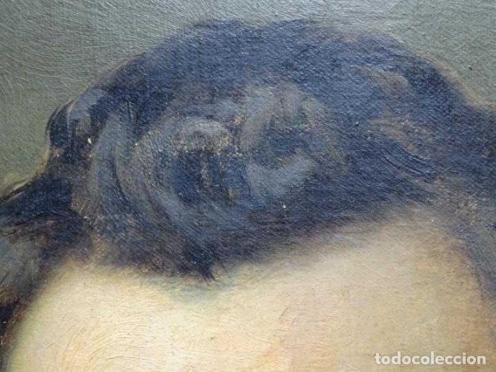 Arte: ÓLEO TELA DE JOSEP TEXIDOR I BUSQUET(BCN 1829-1892).RETRATO PADRE DEL PINTOR JOAQUIN VANCELLS 1872 - Foto 11 - 231413500