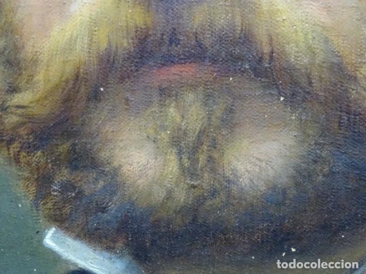 Arte: ÓLEO TELA DE JOSEP TEXIDOR I BUSQUET(BCN 1829-1892).RETRATO PADRE DEL PINTOR JOAQUIN VANCELLS 1872 - Foto 14 - 231413500