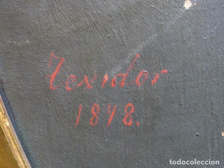 Arte: ÓLEO TELA DE JOSEP TEXIDOR I BUSQUET(BCN 1829-1892).RETRATO PADRE DEL PINTOR JOAQUIN VANCELLS 1872 - Foto 15 - 231413500