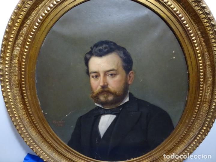 Arte: ÓLEO TELA DE JOSEP TEXIDOR I BUSQUET(BCN 1829-1892).RETRATO PADRE DEL PINTOR JOAQUIN VANCELLS 1872 - Foto 19 - 231413500