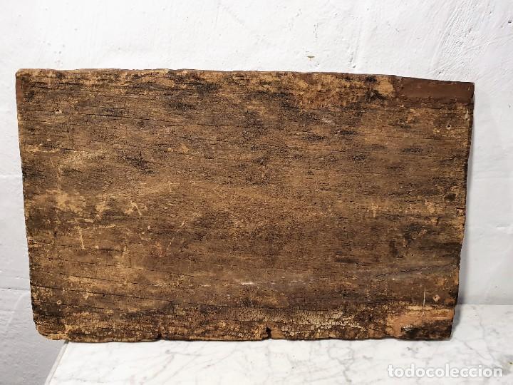 Arte: ANTIGUOS OLEOS SOBRE TABLA SOBRE LA CONQUISTA DE AMERICA - Foto 6 - 231576195