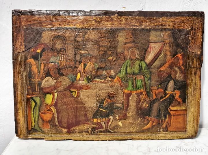 Arte: ANTIGUOS OLEOS SOBRE TABLA SOBRE LA CONQUISTA DE AMERICA - Foto 7 - 231576195