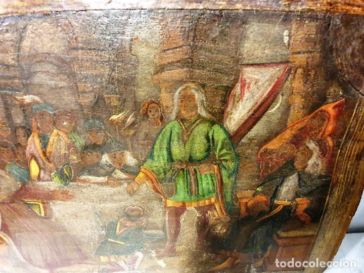 Arte: ANTIGUOS OLEOS SOBRE TABLA SOBRE LA CONQUISTA DE AMERICA - Foto 9 - 231576195
