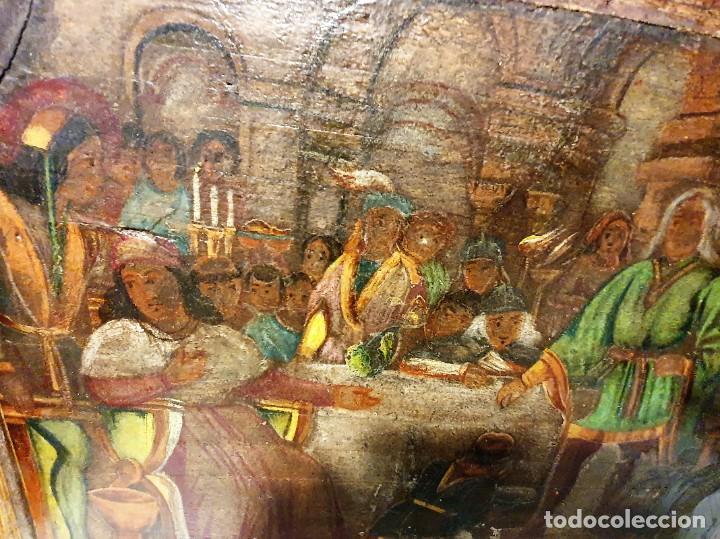 Arte: ANTIGUOS OLEOS SOBRE TABLA SOBRE LA CONQUISTA DE AMERICA - Foto 10 - 231576195