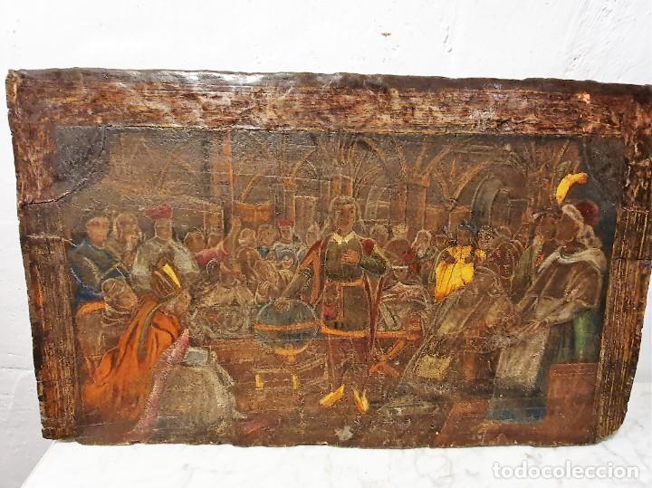 Arte: ANTIGUOS OLEOS SOBRE TABLA SOBRE LA CONQUISTA DE AMERICA - Foto 14 - 231576195