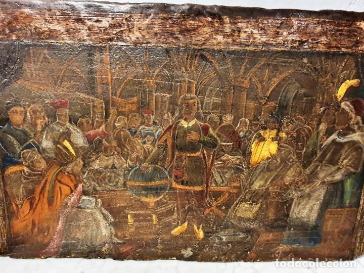 Arte: ANTIGUOS OLEOS SOBRE TABLA SOBRE LA CONQUISTA DE AMERICA - Foto 15 - 231576195