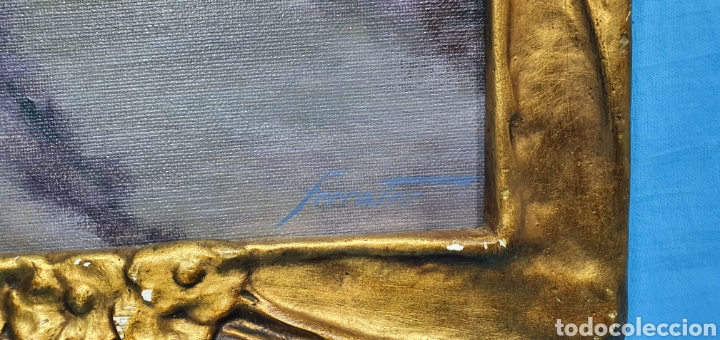 Arte: ÓLEO SOBRE LIENZO - PAISAJE - ANTONI DE FERRATER FELIU 1868 -1942 - Medidas sin marco: 23×29 cm - Foto 2 - 231595820
