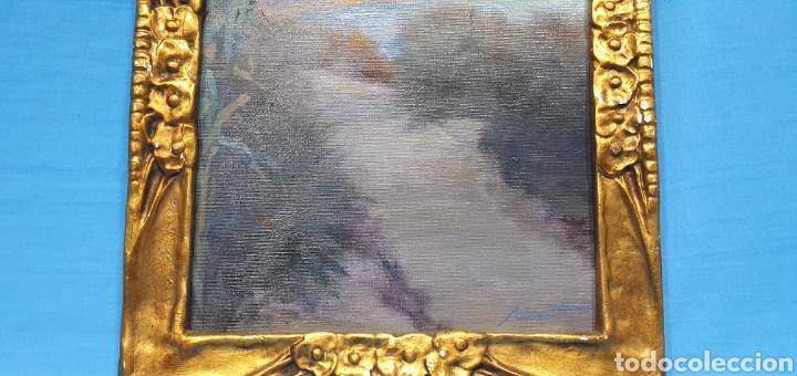Arte: ÓLEO SOBRE LIENZO - PAISAJE - ANTONI DE FERRATER FELIU 1868 -1942 - Medidas sin marco: 23×29 cm - Foto 4 - 231595820