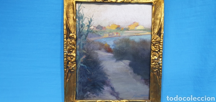 Arte: ÓLEO SOBRE LIENZO - PAISAJE - ANTONI DE FERRATER FELIU 1868 -1942 - Medidas sin marco: 23×29 cm - Foto 5 - 231595820