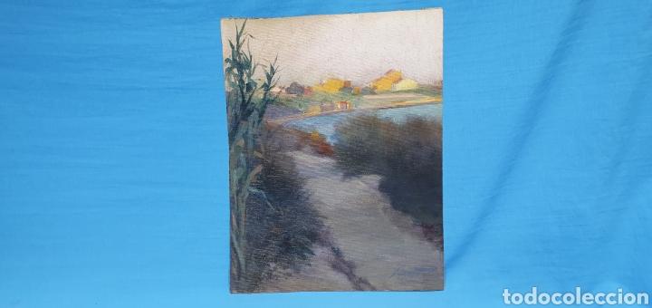 Arte: ÓLEO SOBRE LIENZO - PAISAJE - ANTONI DE FERRATER FELIU 1868 -1942 - Medidas sin marco: 23×29 cm - Foto 14 - 231595820