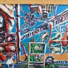 Arte: OLEO EN MADERA DE ARTE URBANO.. COMPRADO EN EXPOSICIÓN. ARTE URBANO DE NEW YORK.. 2017..IMPRESIÓNIS. Lote 231619830