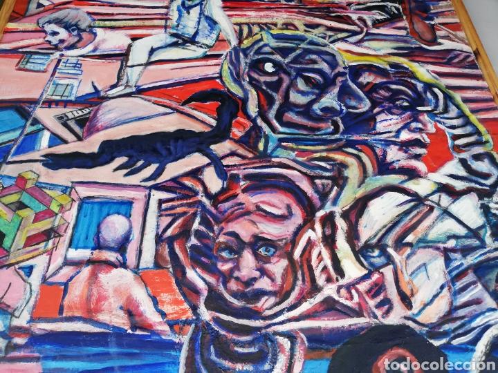 Arte: Oleo madera arte urbano.. Comprado exposición NewYork.. Agotando todas las obras duro una semana. - Foto 3 - 231620805