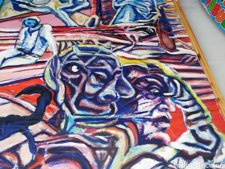 Arte: Oleo madera arte urbano.. Comprado exposición NewYork.. Agotando todas las obras duro una semana. - Foto 5 - 231620805