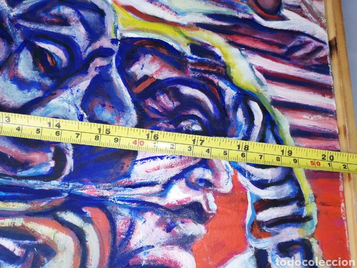 Arte: Oleo madera arte urbano.. Comprado exposición NewYork.. Agotando todas las obras duro una semana. - Foto 8 - 231620805