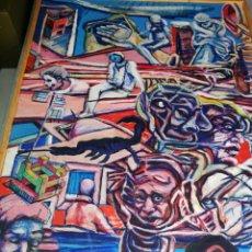 Arte: OLEO MADERA ARTE URBANO.. COMPRADO EXPOSICIÓN NEWYORK.. AGOTANDO TODAS LAS OBRAS DURO UNA SEMANA.. Lote 231620805