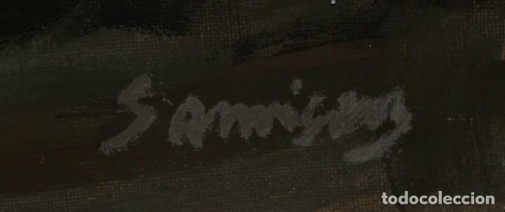 Arte: RAMÓN SANVISENS I MARFULL (Barcelona, 1917-1987) OLEO SOBRE TELA. DESNUDO FEMENINO - Foto 10 - 231743020