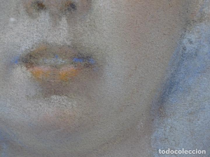 Arte: PASTEL MODERNISTA EN MARCO DE ÉPOCA.AÑOS 20.FIRMA ILEGIBLE. - Foto 8 - 231768210