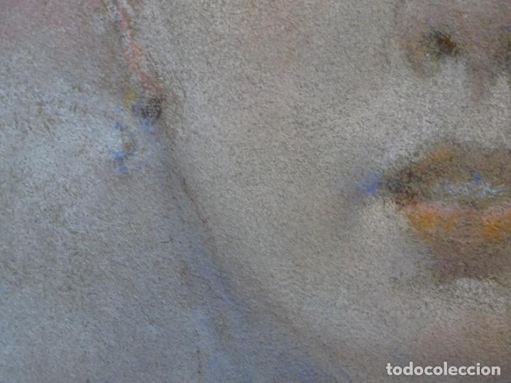 Arte: PASTEL MODERNISTA EN MARCO DE ÉPOCA.AÑOS 20.FIRMA ILEGIBLE. - Foto 9 - 231768210