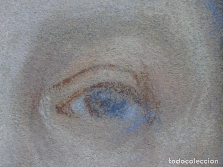 Arte: PASTEL MODERNISTA EN MARCO DE ÉPOCA.AÑOS 20.FIRMA ILEGIBLE. - Foto 10 - 231768210