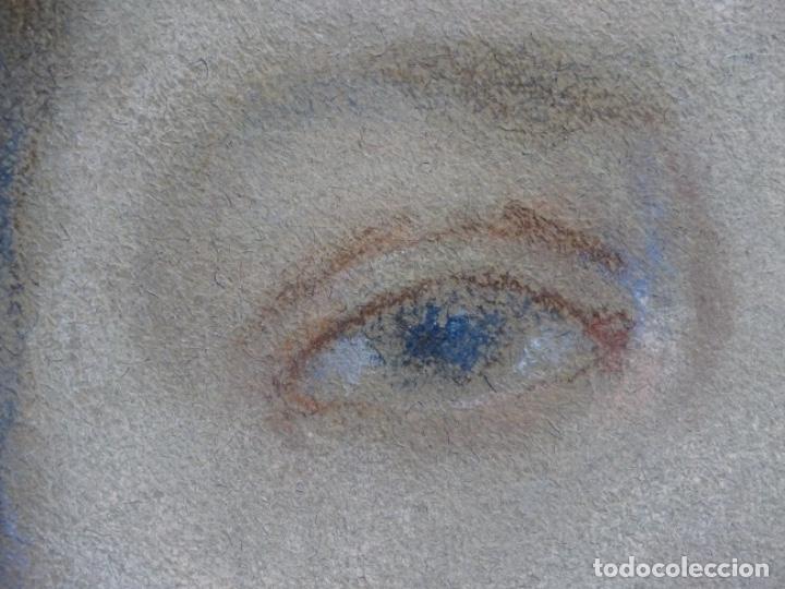 Arte: PASTEL MODERNISTA EN MARCO DE ÉPOCA.AÑOS 20.FIRMA ILEGIBLE. - Foto 11 - 231768210