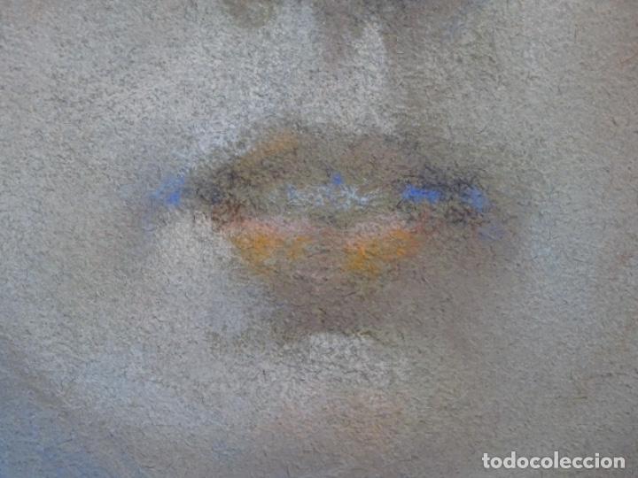 Arte: PASTEL MODERNISTA EN MARCO DE ÉPOCA.AÑOS 20.FIRMA ILEGIBLE. - Foto 13 - 231768210