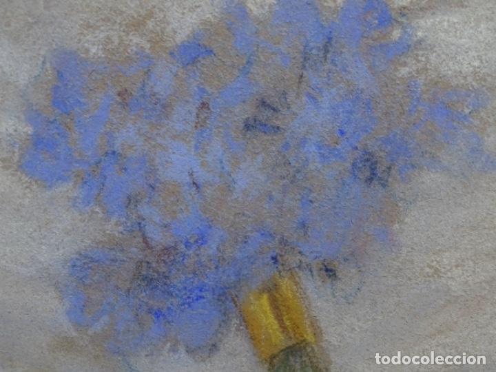 Arte: PASTEL MODERNISTA EN MARCO DE ÉPOCA.AÑOS 20.FIRMA ILEGIBLE. - Foto 17 - 231768210