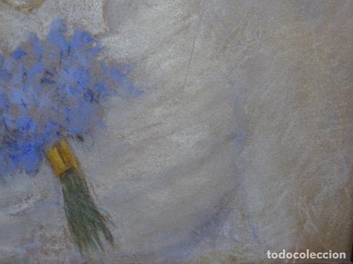 Arte: PASTEL MODERNISTA EN MARCO DE ÉPOCA.AÑOS 20.FIRMA ILEGIBLE. - Foto 19 - 231768210