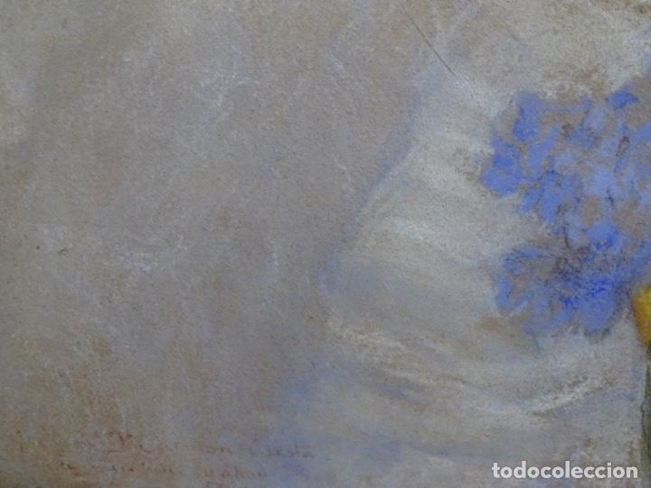 Arte: PASTEL MODERNISTA EN MARCO DE ÉPOCA.AÑOS 20.FIRMA ILEGIBLE. - Foto 20 - 231768210