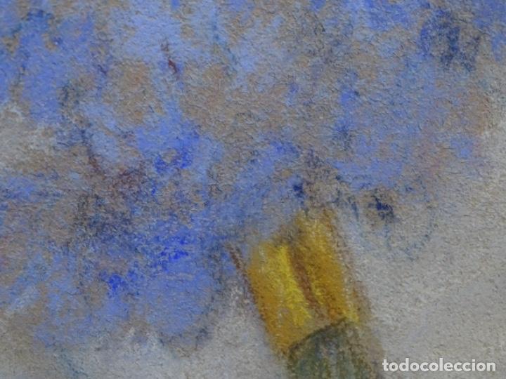 Arte: PASTEL MODERNISTA EN MARCO DE ÉPOCA.AÑOS 20.FIRMA ILEGIBLE. - Foto 23 - 231768210