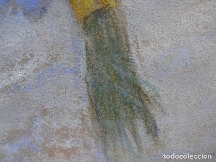 Arte: PASTEL MODERNISTA EN MARCO DE ÉPOCA.AÑOS 20.FIRMA ILEGIBLE. - Foto 24 - 231768210