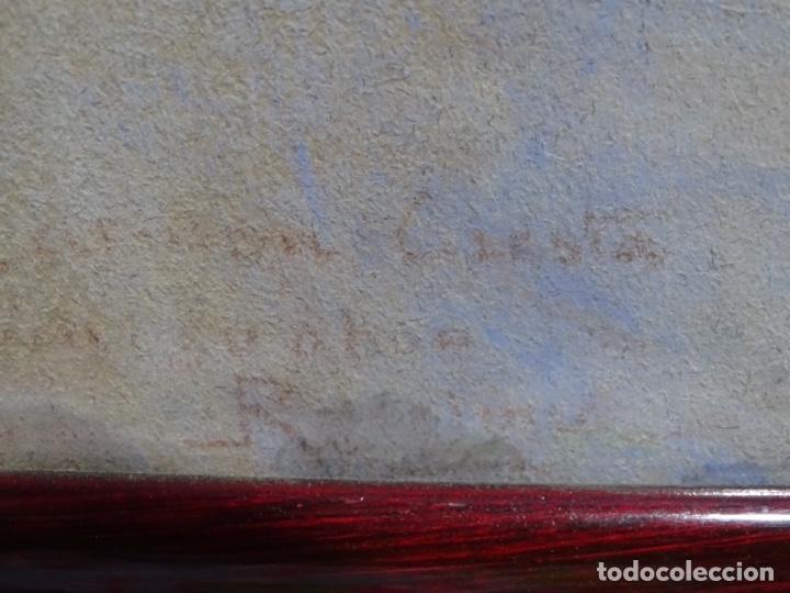 Arte: PASTEL MODERNISTA EN MARCO DE ÉPOCA.AÑOS 20.FIRMA ILEGIBLE. - Foto 25 - 231768210
