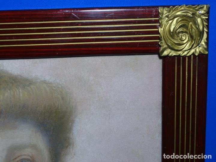 Arte: PASTEL MODERNISTA EN MARCO DE ÉPOCA.AÑOS 20.FIRMA ILEGIBLE. - Foto 26 - 231768210